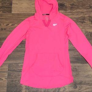 Pink Nike Longsleeve Dri-Fit Hoodie